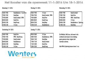 Rooster open week